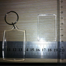 Transparent clear plastic key rings wholesale