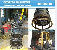 Submersible River Sand Suction Dredge Pump with high wear resistant material