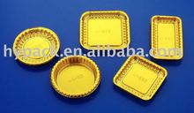 Gold Plastic moon cake/ Dessert packaging Trays