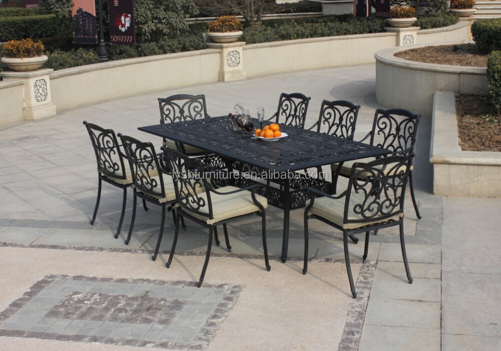 metal curved cast aluminum outdoor furniture
