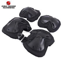 Military tactical 600D polyester elbow knee pads kneepads with EVA foam in different color
