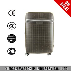 Factory price, lightwight, soft side PVC trolley luggage suitcase