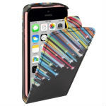 Colorful Meteor Shower Pattern Vertical Flip Leather Case for iPhone 5C