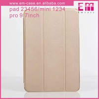 Solid Color For iPad Tablet Flip TPU Case/PU Leather Flip Stand Holder case