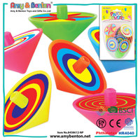 Promotional toys cheap plastic mini color spinning tops