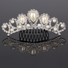 Wedding tiaras and <strong>crown</strong>, bridal tiara wedding hair <strong>crown</strong> pearl, wedding <strong>crown</strong>