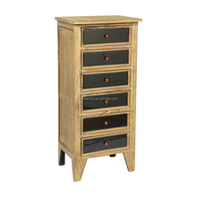Wholesale 6 Black Drawer Unfinished Chest ,Cheap Wooden Furniture