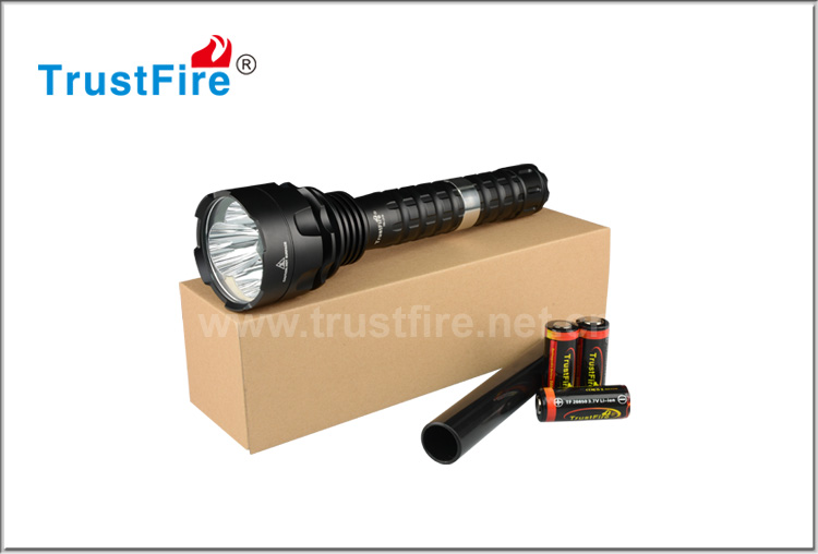 Trustfire J19 xml 2 aluminum long beam led rechargeable flashlight for camping