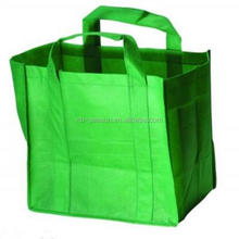 Custom Printed Carrier Bags non woven Shopping Totes in Green , Purple , White