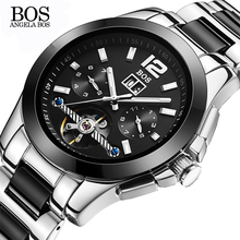 Dia 40mm Water-resistant 100M Anti-magnetic Angela BOS 9001 Wristwatch Custom Logo Watches Ceramic Watch