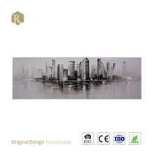 Beautiful city 3D canvas painting abstract wall relief field scenery wall painting