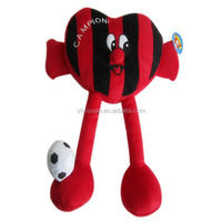 Novelty heart shaped football player plush toy