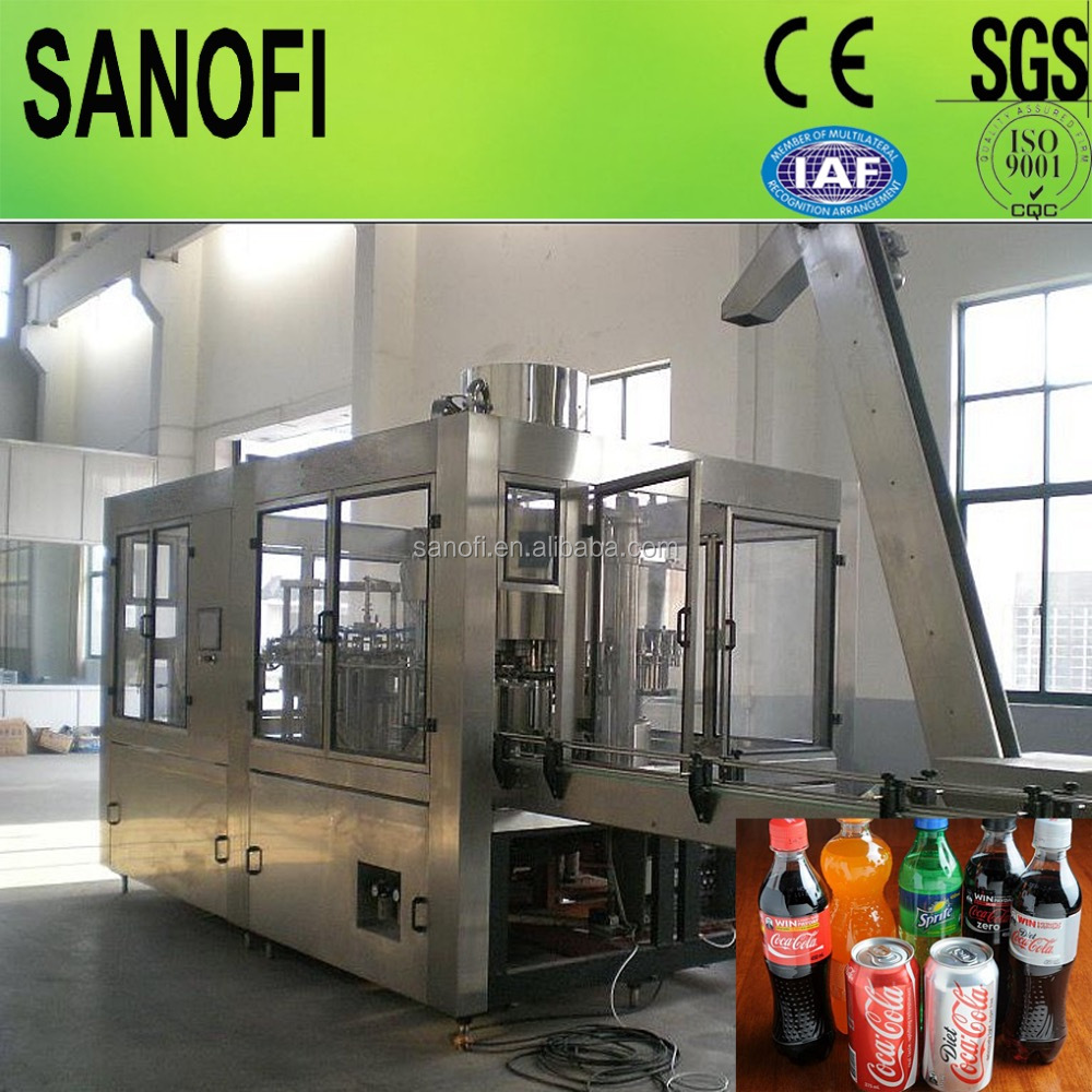 2017 new design fully automatic soft drink bottle filling machine/plant/line/system