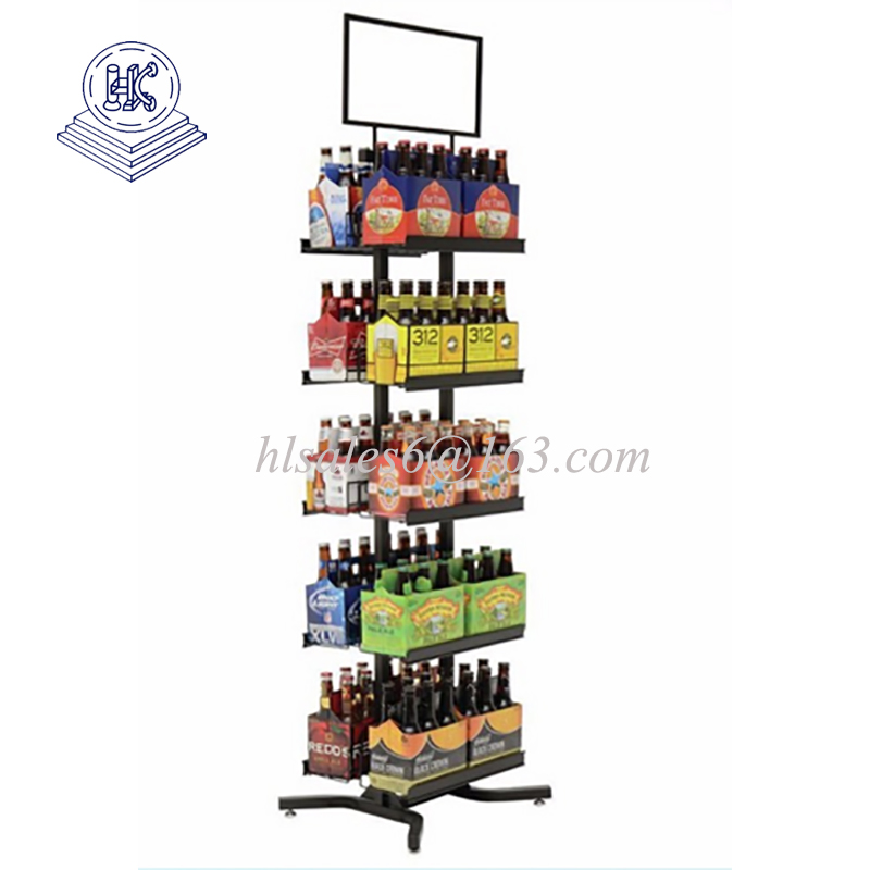 Top quality metal display rack with baskets