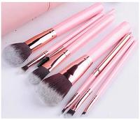 Makeup brushes private label Cruelty free, Bristle makeup brush set, Pink rose gold make up brush set, make up brush rose gold