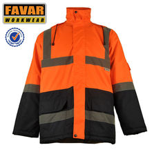 hi vis waterproof winter jacket freezer jacket