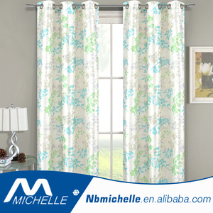 Free sample modern style faux silk home printed window curtain