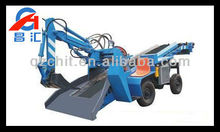 high quality tyre-belt underground mucking loader crawler loader with backhoe attachment