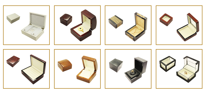 China Style Printed Logo Made Paper Jewelry Box,Leatherette Paper Jewelry Box,Leather Covered Jewelry Box