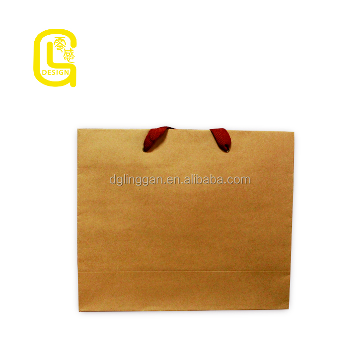 Customized brown bread paper bag for packing