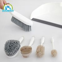 BOOMJOY household six pieces cleaning tool set brushes and dustpan for table and kitchen cleaning