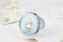 wholesale cartoon printing metal pocket mirrors top sale mini compact mirror