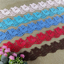 2018 wholesale colored water soluble lace trim cheap chemical lace