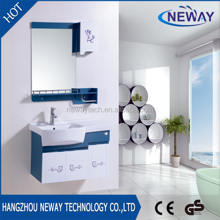 Cheap pvc material office wall mounted bathroom cabinets