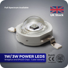 1w 3w 5w 10w led high power 660nm led deep red for growing led light