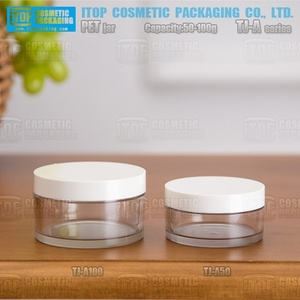 clear plastic cylinder container all size fancy canning jar 500g cream container cosmetics magnifying bath salt jars
