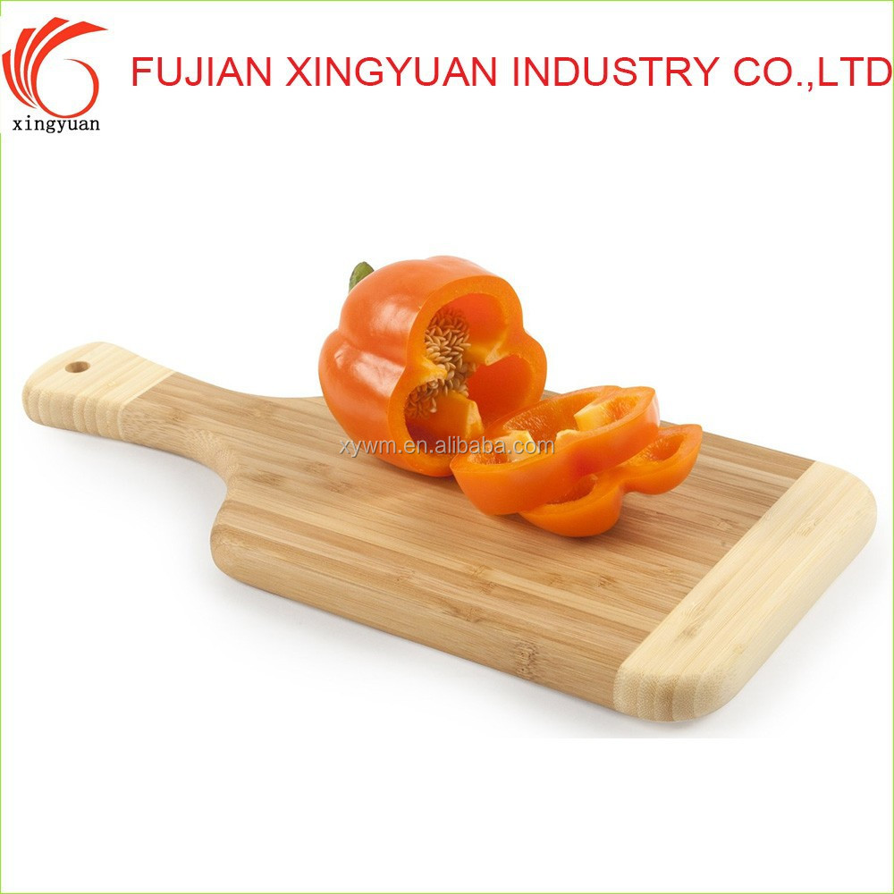 Two Colors Assorted Cutting Board with Bamboo Material