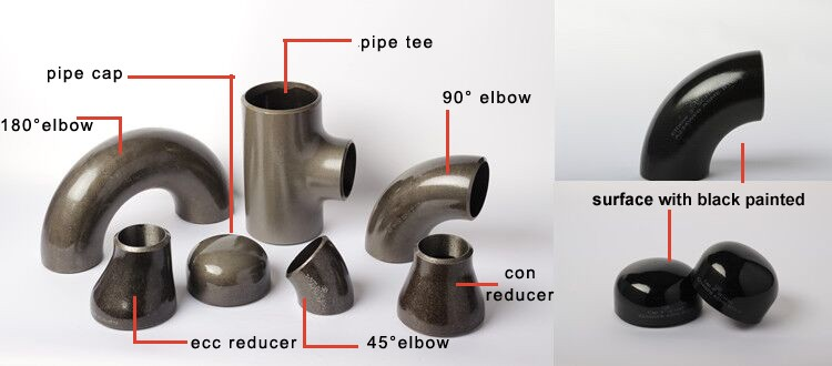 butt weld ss fittings schedule 40 long radius elbow