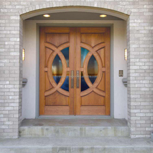 "72""x80"" Mahogany Double Front Luxury Entry Doors, Luxury Villa Entrance Door"