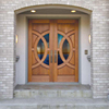 "Forest Bright 72""x80"" Solid African Mahogany Double Front Entry Doors"