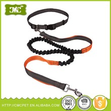 Wholesale amazon best selling premium custom reflective bungee running nylon hands free dog leash with waist belt for