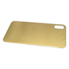 Gold plating glass back cover for iphone XS