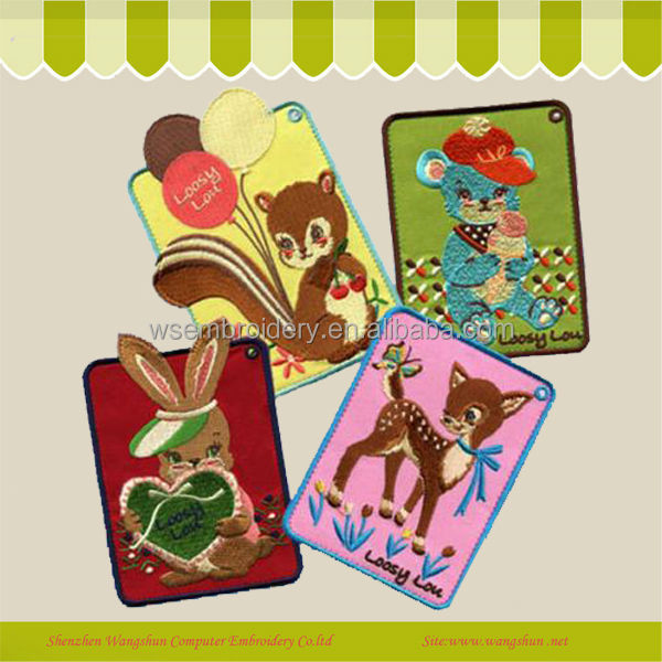 Wholesale Custom Cartoon Animal Embroidery Key Chain For Girl