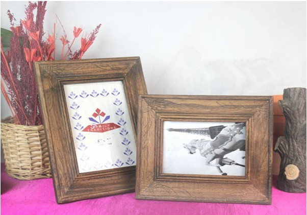 cheap wholesale unfinished wall hanging wooden photo frames