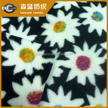 printing polyester flannel fleece fabric for blanket