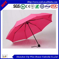 strong weatherproof fashionable auto open uv protection 3 fold umbrella