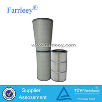 Gas turbine power plants air cartridge filter,Steel mill blast oxygen station cylinder & conical air filter cartridge