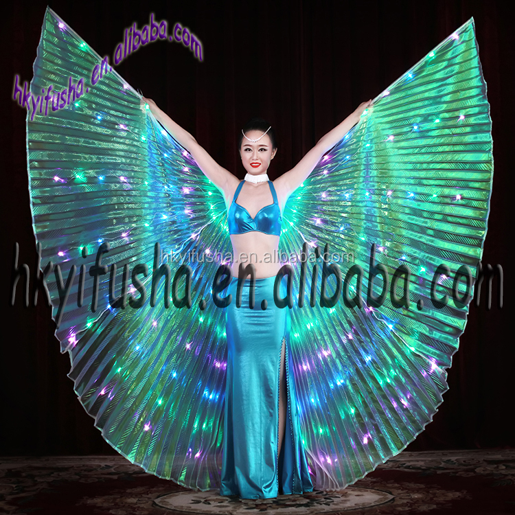 Hot selling belly dance LED open isis wings M0029-L3