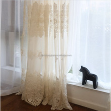 China supplier quality imported french lace indoor voile fabric curtain