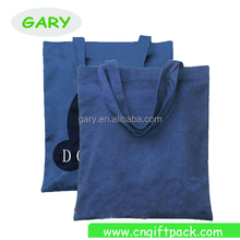 Blue Cotton Canvas Cotton Grocery Shopping Tote Bag with Printing Logo