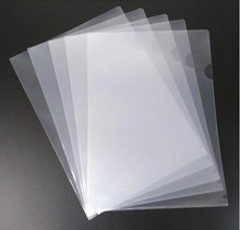 Fancy decorative transparent pp file folder for business promotion