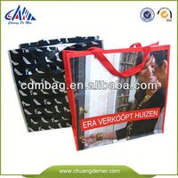 China Green Laminated pp woven container bag