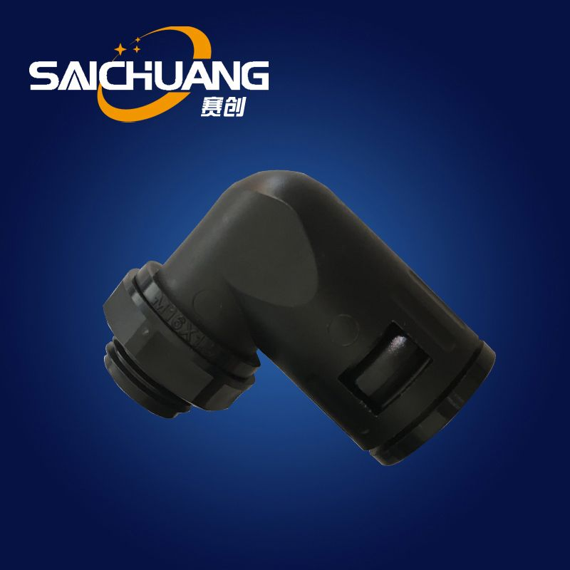 Plastic electrical tube fitting new right angle quick connector for plastic flexible conduit quick screw connector
