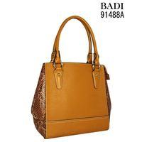 2016 best sale PU shopping 100 genuine leather handbag