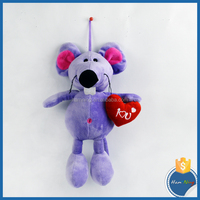 mouse boll hugging red heart vlantine gifts educational toy