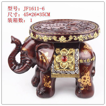 high quality Resin elephent stool, polyresin elephant figurines, elephant home decoration